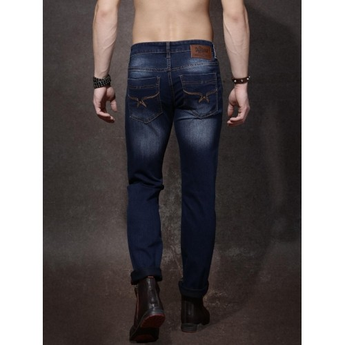 Roadster Blue Washed Mid-Rise Jeans