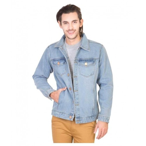 Buy Krossstitch Light Blue Full Sleeve Men s Denim Jacket online ... 05074adc476