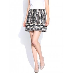 Vero Moda Multicoloured Polyester Printed Flared Mini Skirt