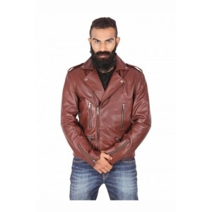 Theo&Ash Brown Genuine Leather Jackets
