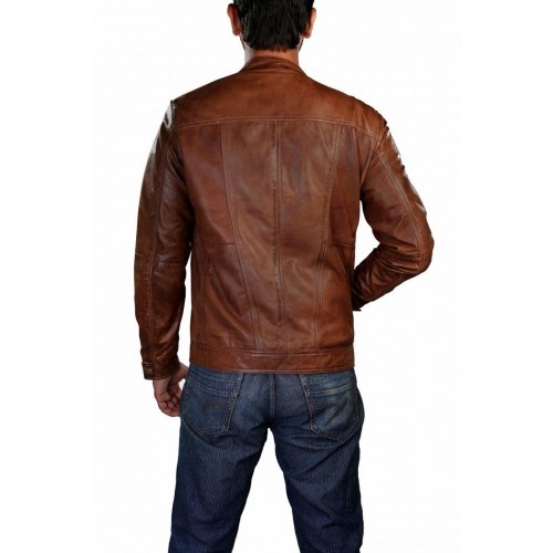 Theo&Ash Brown 100% Genuine Leather Jacket