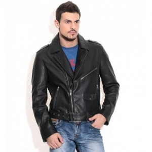 Theo&Ash Black Genuine Leather Jackets
