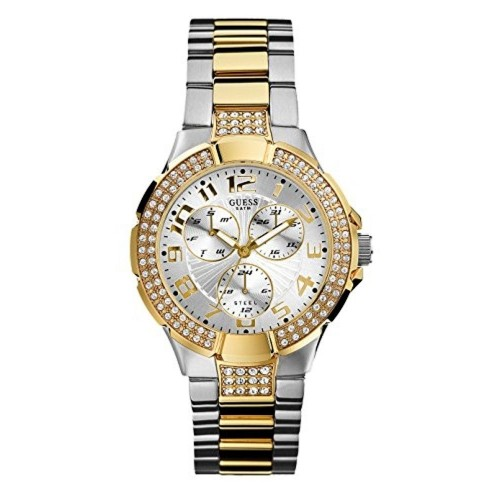 GUESS Golden & Silver Dial Analog Women's Watch - W16563L1