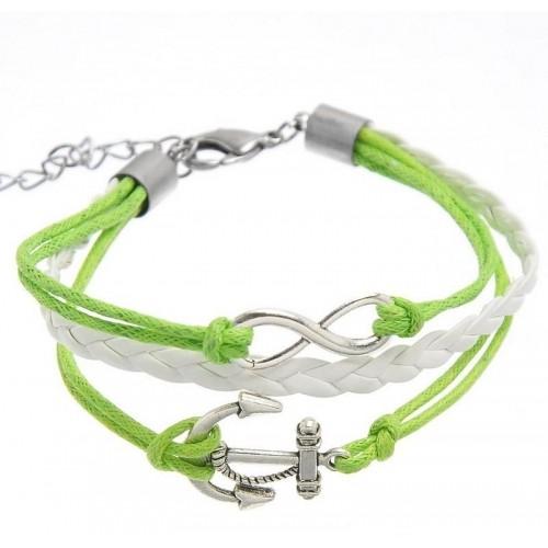 Aaishwarya Green Alloy Crystal Bracelet
