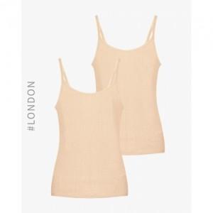 Marks & Spencer Beige Polyester Viscose Thermal Strappy Vests