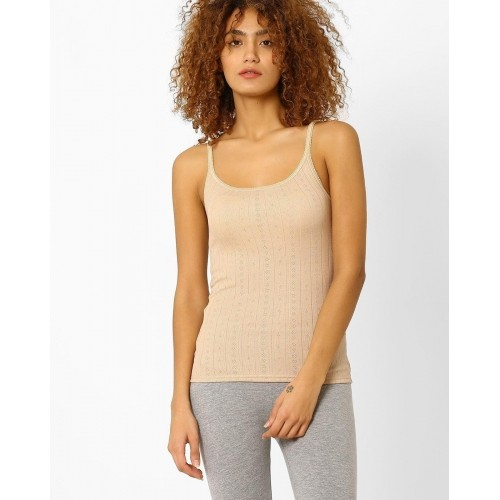 Marks & Spencer Beige Polyester Viscose Thermal Strappy Vests