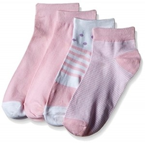 Tossido Women's Baby Pink & White Printed Ankle Socks