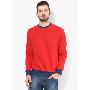 Blue Saint Red Cotton Printed Men's Sweatshirt