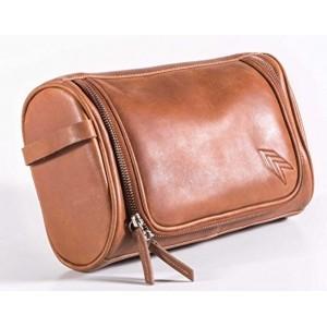 IFZA Tan Genuine Leather Toiletry Hanging Kit