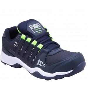 Aero Fax Navy Blue Mesh Running Shoes