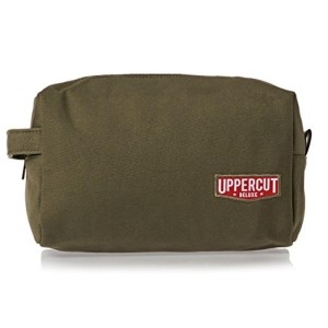 Uppercut Olive Green Cotton Canvas Toiletry Dopp Kit