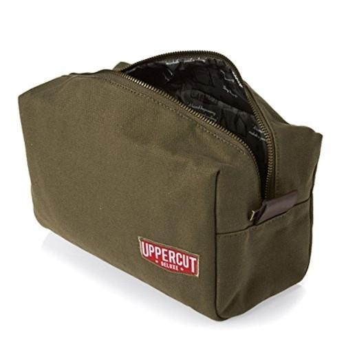 f65f4e34179a Buy Uppercut Olive Green Cotton Canvas Toiletry Dopp Kit online ...