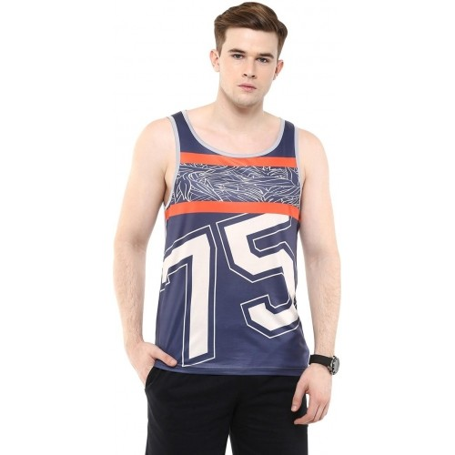 Yepme Printed Men's Scoop Neck Blue T-Shirt
