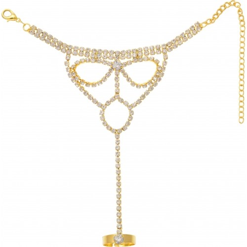 Aaishwarya Yellow Alloy Crystal Ring Bracelets