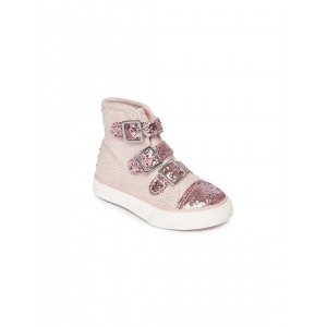 The Childrens Place Girls Pink Shimmery Sneakers