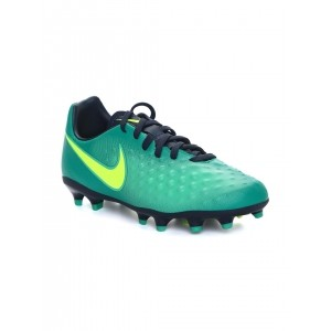 Nike Green Leather Printed Football Shoes