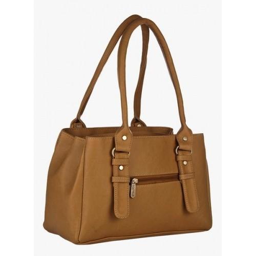 FOSTELO Tan Polyurethane Textured Handbag