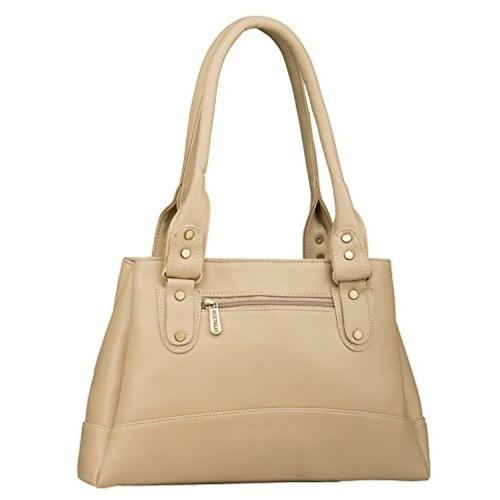 Fostelo Beige Polyurethane Solid Shoulder Bag