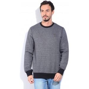 Reebok Men's Gray Solid Sweatshirt