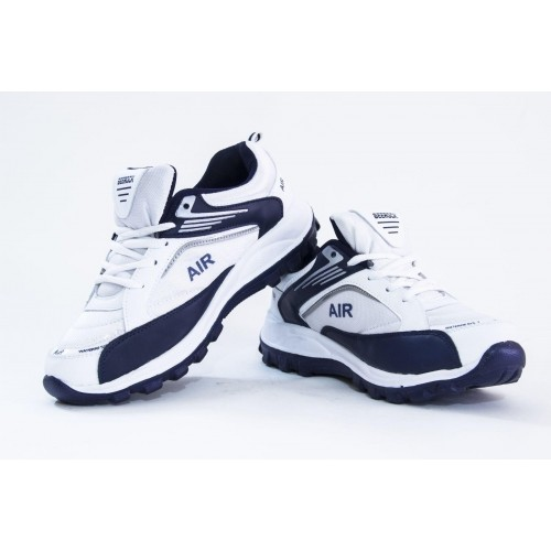 Beerock White Synthetic Lace Up Running Shoes