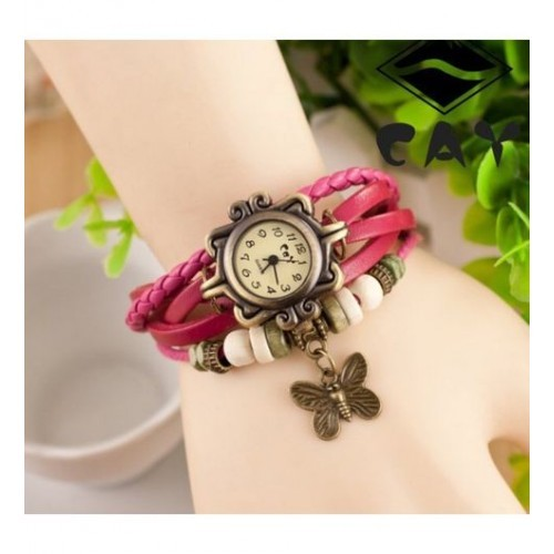 Felizo Vintage Pink Analog Watch  - For Women