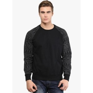 Punk Black Printed Sweatshirt