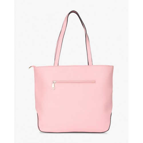 Diana Korr Pink Solid Shoulder Bag with Laser Cuts