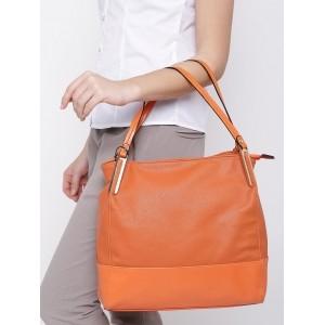 Paprika By Lifestyle Orange Synthetic Leather Shoulder Bag