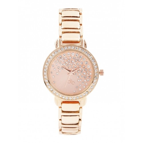 DressBerry Rose Gold-Toned Dial Analog Watch DB2-A