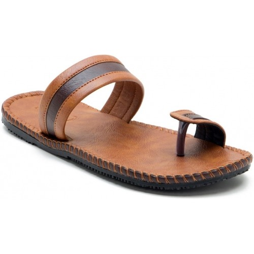 2840969f46e0 Buy Iroo Brown Leather Chappals For Men online