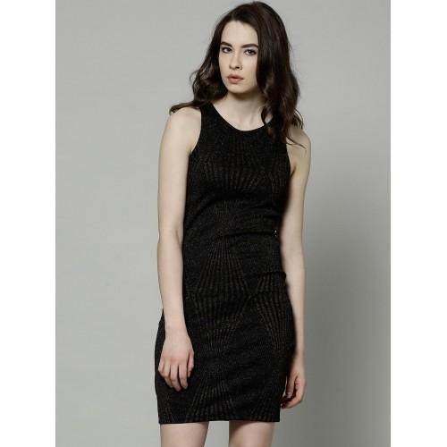 700d3499a Buy Marks   Spencer Black Polyester Shimmer Bodycon Dress online ...