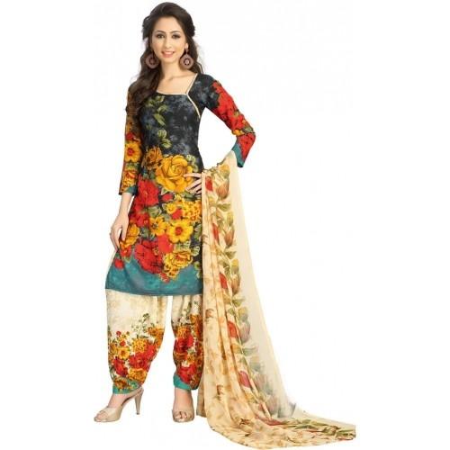Saara Multicolor Polyester Floral Print Salwar Suit