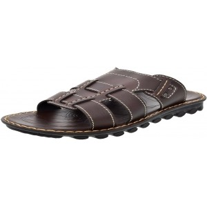 Aerosoft Brown Slip On Flip Flops