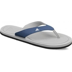 Adidas White & Blue Rubber Slippers