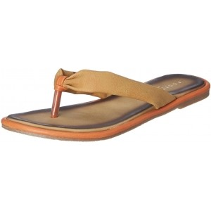 Bata Golden Synthetic Flats Chappals