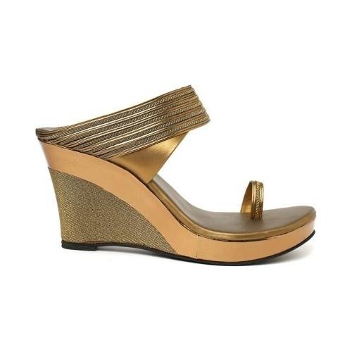 Wellworth Sandal Women Copper Ethnic Wedges