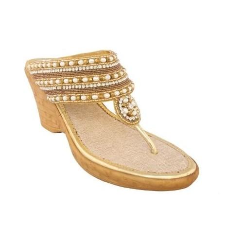 Allinyou Women Gold Wedges
