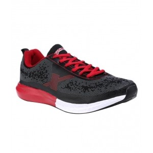 Sparx Black Mesh Running Shoes For Men