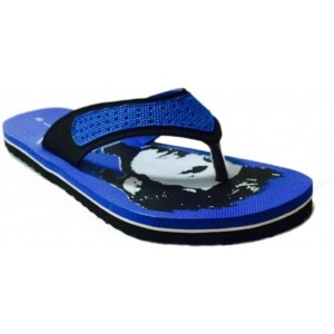 Mr. Polo Blue & Black EVA Men's Flip Flops