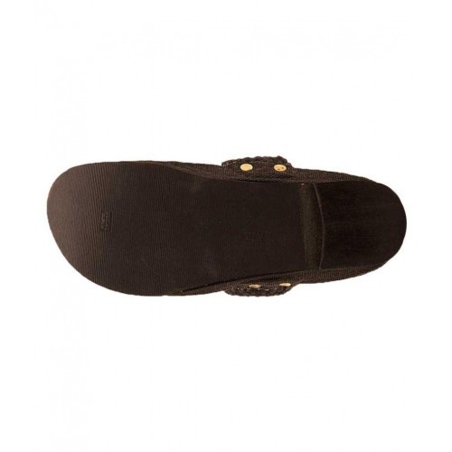 Pahnawa Coffee Leather Kolhapuri Chappal