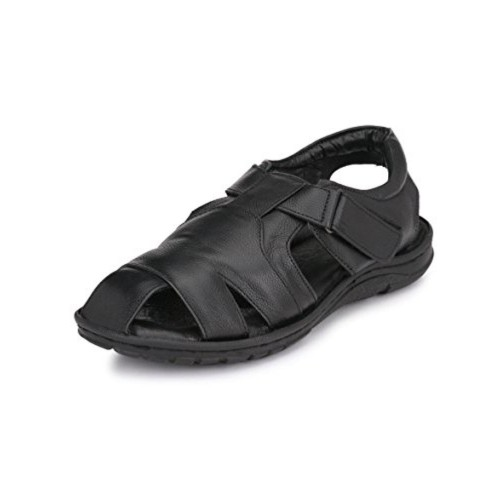 0735fdf4dded Buy PEPONI Black TPR   Leather Best and Comfortable Sandals ...