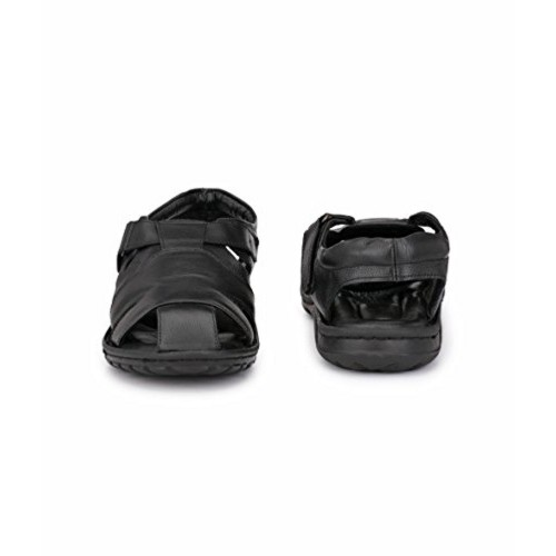 3d18f176a706 Buy PEPONI Black TPR   Leather Best and Comfortable Sandals online ...