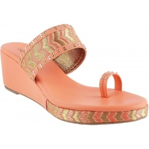 Metro Peach  Synthetic Slip-On Ethnic Foot Wear