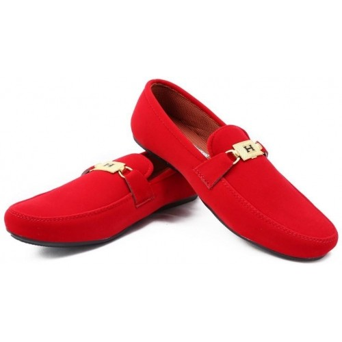 Ziesha Red Synthetic Men's Loafers