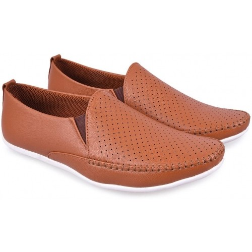 Andrew Scott Tan Solid Loafers