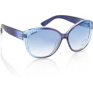 Fastrack P254BU1F Blue Polycarbonate Oval Sunglasses