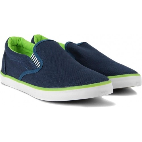 c75b376627c Buy Flying Machine Blue Canvas Slip On Loafers online