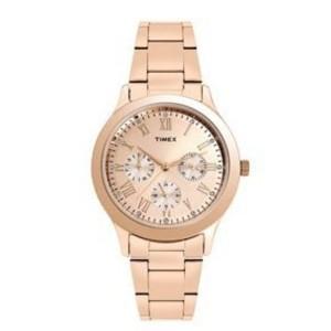 Timex Gold Dial Women's Analog Watch-TW000Q810