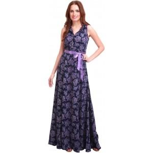 Sassafras Women's Maxi Blue, Purple Dress