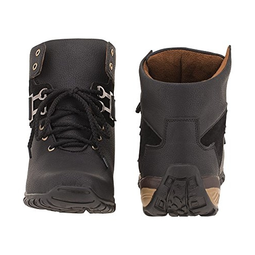Vogue Black Artificial Leather Lace Up Boots